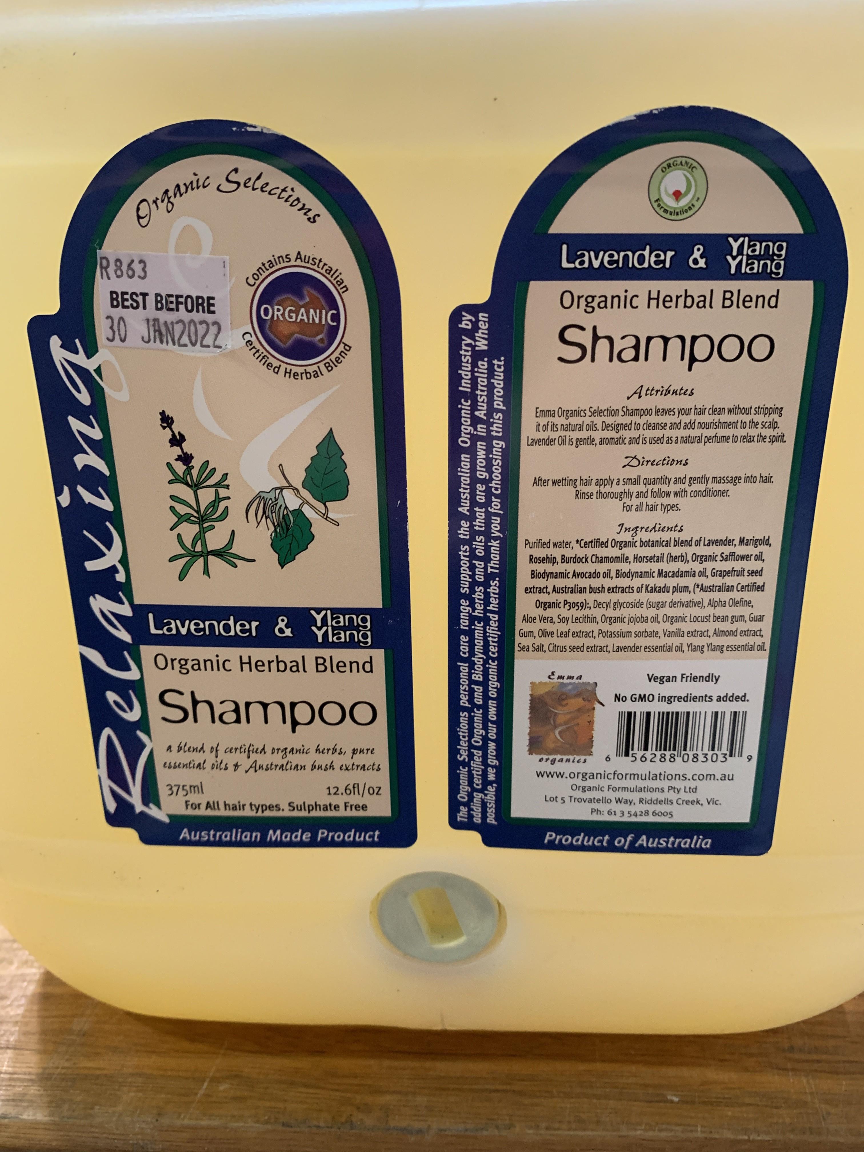 Shampoo- lavender & ylang ylang- (organic, 100gms)